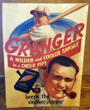 Granger Rough Cut Tobacco Johnny Mize Cardinals General Store Adv Counter Sign