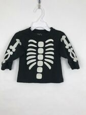 The Childrens Place 12 Month Skeleton Bones Glow In The Dark Shirt Baby