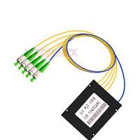 Fiber Optic 1X4 Singlemode PLC Fiber Splitter FC/APC PLC Splitter Module1:4 SM