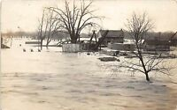 C29/ Grand Rapids? Michigan Mi Real Photo RPPC Postcard 1909 Flood Disaster