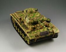 1/30 WW2 German Panzer III Ausf L with metal track and wheel Camouflage version