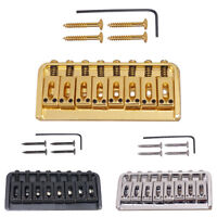 8 String Fixed Type Bridge Saddle For Electric Guitar Parts w/ Wrench Screw