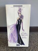 NRFB Sterling Silver Rose Caucasian/White Barbie - by Bob Mackie, 2002