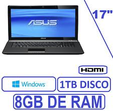 """ORDENADOR PORTATIL ASUS 17"""" INTEL 8GB RAM 1 TB WINDOWS + OFFICE"""