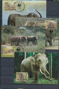 XC59291 Sri Lanka 1986 elephants animals wildlife maxicards used