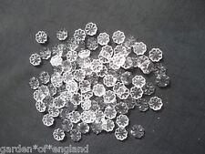 100 pretty glass floret chandelier drops/ Christmas decoration(D114)