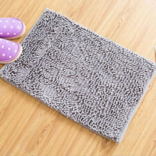 "Sliver Gray 20""x 32"" Non-slip Microfiber Shag Bathroom Rugs Bath Mats Shower Rug"