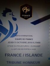 Place foot France Islande Guingamp Roudourou 11 octobre 2018