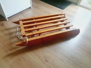 Large Wooden Sledge Vintage Sleigh
