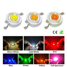 10-100pcs 1W 3W High Power LED Chip Warm White Red Green Blue Yellow F Lamp Bulb