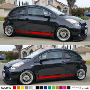 Sticker Vinyl Decal Graphic Stripe Body Kit for Toyota Yaris RS Racing Door Side