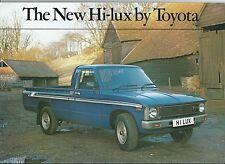 Toyota Hi-Lux Pick Up Van Original English Language Brochure Depliant 1980