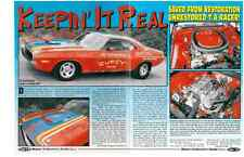 1970 DODGE CHALLENGER T/A 340-6  -- TRANS-AM RACER  ~  NICE 5-PAGE ARTICLE / AD