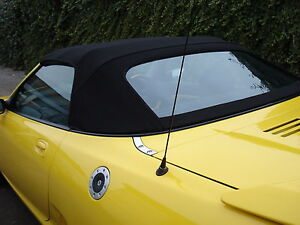 MGF & MG TF Mk1/2 Black Mohair Hood & Plastic Window Section