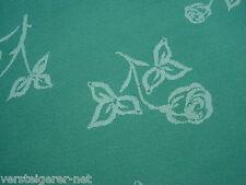 Deckserviette ca. 80 x 80 cm, Mitteldecke, Tischtuch, Tafeltuch grün Rosenmuster