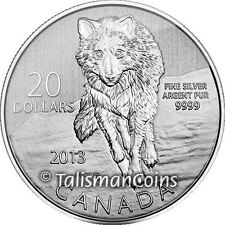 Canada 2013 $20 Commemorative #9 Wolf Wildlife Pure Silver Specimen FULL OGP!