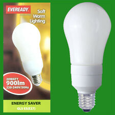 3x 20W Low Energy CFL Power Saving Light Bulbs,GLS; ES, E27 Lamps, Globes, 2700K