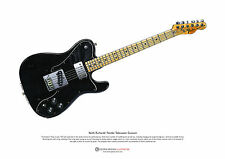 Keith Richards' Fender Telecaster Custom ART POSTER A3 size