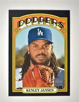 2021 Heritage Base Black Border #143 Kenley Jansen - Los Angeles Dodgers
