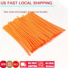 Orange 72 pcs Universal Motocross Wheel Rim Spoke Cover Off Road Skins Wraps Kit