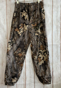 Browning Gore-Tex Pants Mens Large Mossy Oak Nylon Polyester Lined Drawstring