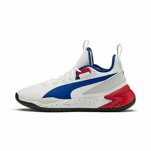 Puma Uproar PA Detroit Palace Men's Size 8.5 Shoes White/Red/Blue 192776-01