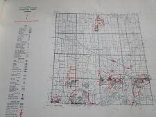1961 LIVINGSTON County MI CONSERVATION DNR MAP