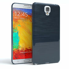Schutz Hülle für Samsung Galaxy Note 3 Neo Brushed Cover Handy Case Dunkelblau