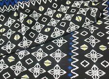 """IKEA Jassa Cotton Fabric 3.2 Yards 59""""x118"""" - Black, Blue, White, Yellow"""