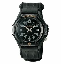 Casio FT500WC-1BV, Forester, Analog Watch, Black Nylon Strap, Date, 100 Meter WR
