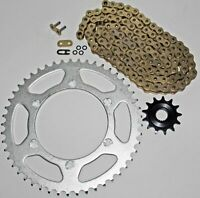 Yamaha 2005-14 YZ125 / 2001-13 WR250 F Gold O Ring Chain And Sprocket 13/49 114L
