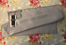Tie Rack London 100% Silk Pocket Square Handkerchief Scarf Silver Grey Bnwt