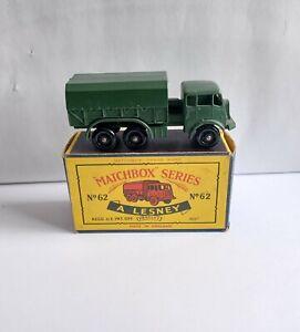 MATCHBOX 62 SERVICE LORRY & RARE C2 TYPE BOX !