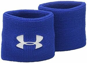 "Sweatband Under Armour Men Performance Wristbands One Size Width 3""- Royal/White"