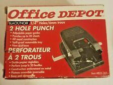 Office Depot Brand 2 Hole Punchitem 825 30714 Holes All Metal Construction