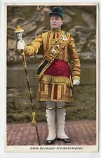 STATE DRUMMER, 3rd SCOTS GUARDS: Military postcard (C12507)