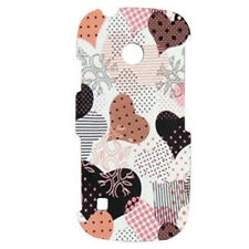 For LG Cosmos Touch VN270 Protector Hard Case Snap on Phone Cover Pink Hearts