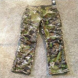 NWT Under Armour Men's Grit Pants Forest Camo 1347443 940 Size 36 MSRP $160 Camo