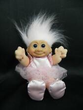 "RUSS KIDZ Pink Ballerina TuTu 9"" TROLL Soft Body DOLL Pink Hair Blue Eyes 2401"