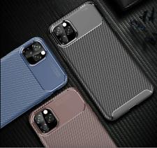 Luxury Premium Carbon Fibre Soft TPU Silicone Case Cover iPhone 11 11 Pro Max
