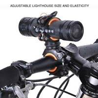 Bike Bicycle Light Torch Flashlight Cycling Handlebar Clip Bracket Mount Holder