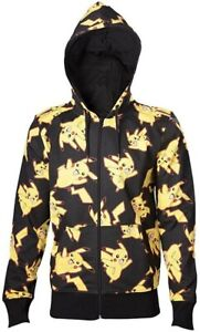 Pokemon - Pikachu All-over Full Length Zipper Hoodie - Large, Free Postage