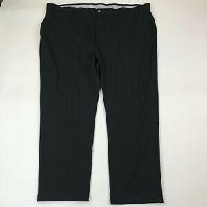 """Callaway Men Black Flat Front Golf Pants sz 52x32 (Inseam 30"""")"""
