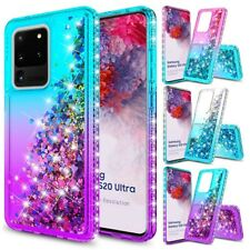 For Samsung Galaxy S20/S20 Ultra/S20 Plus Liquid Quicksand Case Bling Soft Cover