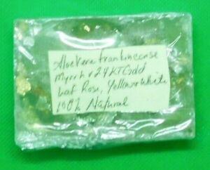 Aloe Vera Bar Soap Frankincense/Myrrh Scent w/24 KT Gold Accents