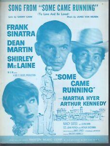 Some Came Running 1958 Frank Sinatra Dean Martin Shirley MacLaine Sheet Music