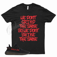 Black GRIND T Shirt match Yeezy Boost v2 Bred 11 Fire Gym Red 4 Flu Game 12