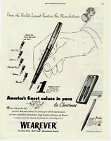 1952 ORIGINAL VINTAGE WEAREVER PEN MAGAZINE AD