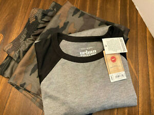Urban Pipeline Boys pajama set size XL (18 - 20) gray and green camo