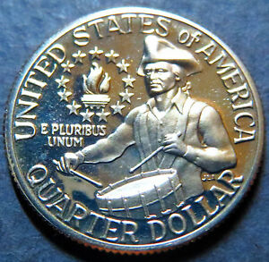 "1976-S  WASHINGTON  ""PROOF""  QUARTER, BU UNCIRCULATED, San Francisco Mint Coin"